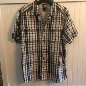 North face plaid large